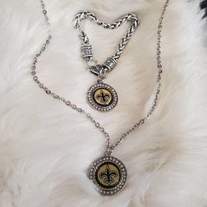 Jewelry - New Orleans Saints Jewelry Set